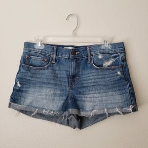 Abercrombie & Fitch Blue Shorts Size 6 Distressed